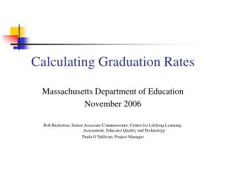 Calculating Graduation Rates