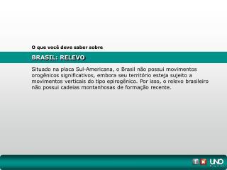 BRASIL: RELEVO