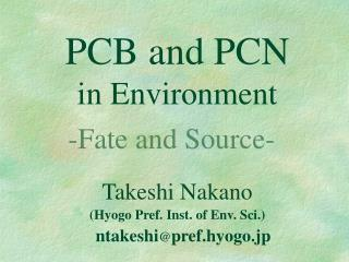 PCB and PCN in Environment