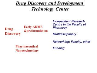 Drug Discovery and Development  Technology Center