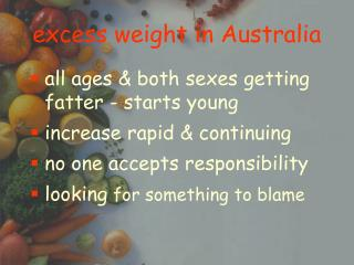 excess weight in Australia