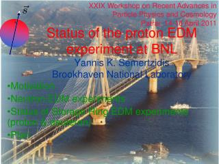 Status of the proton EDM experiment at BNL Yannis K. Semertzidis Brookhaven National Laboratory