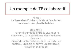 Un exemple de TP collaboratif