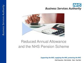 Reduced Annual Allowance  and the NHS Pension Scheme