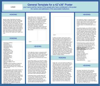 "General Template for a 42""x36"" Poster"