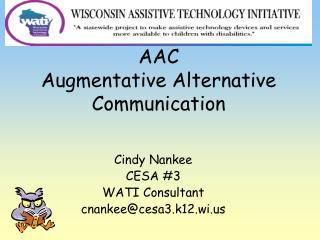 AAC Augmentative Alternative Communication