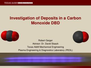 Investigation of Deposits in a Carbon Monoxide DBD