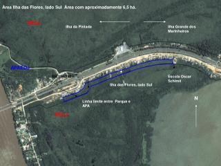 Linha limite entre  Parque e APA