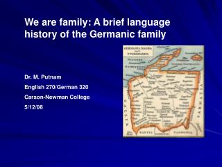 We are family: A brief language history of the Germanic family