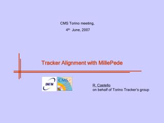 Tracker Alignment with MillePede