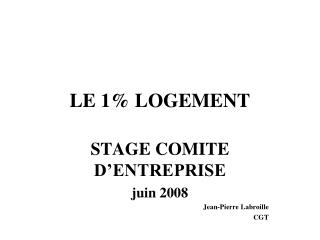 LE 1% LOGEMENT