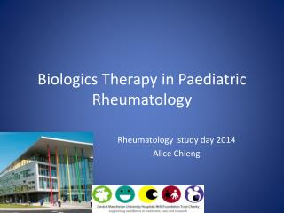Biologics Therapy in Paediatric Rheumatology