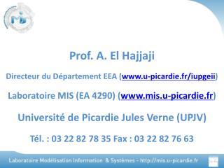 Prof. A. El Hajjaji Directeur du D�partement EEA ( u-picardie.fr/iupgeii )