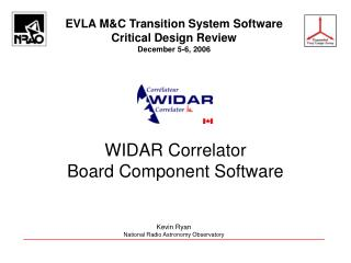 WIDAR Correlator Board Component Software