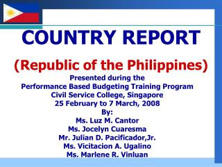 COUNTRY REPORT (Republic of the Philippines)