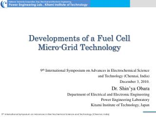 Developments of  a Fuel Cell  Micro-Grid Technology