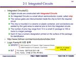 2-1  Integrated Circuits