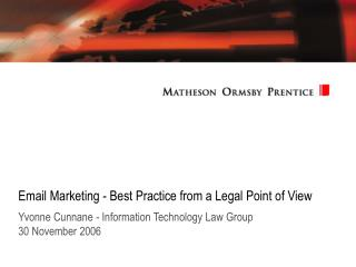 Email Marketing - Best Practice from a Legal Point of View