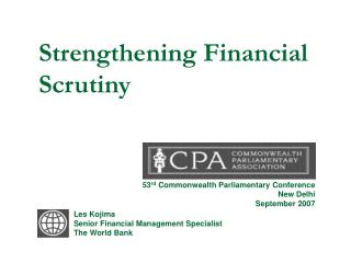 Strengthening Financial Scrutiny