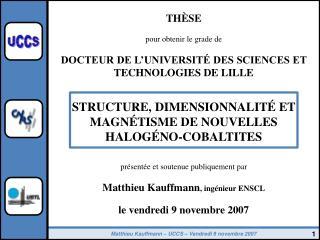 THÈSE pour obtenir le grade de DOCTEUR DE L'UNIVERSITÉ DES SCIENCES ET TECHNOLOGIES DE LILLE