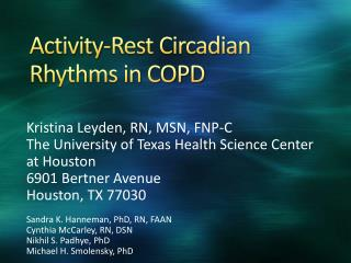 Activity-Rest Circadian Rhythms in COPD