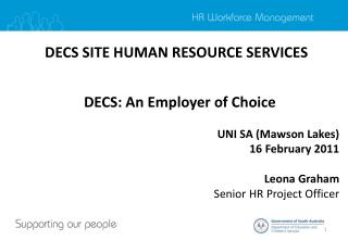 DECS SITE HUMAN RESOURCE SERVICES