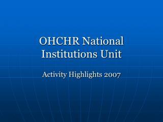 OHCHR National Institutions Unit