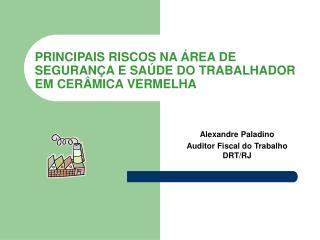 PRINCIPAIS RISCOS NA  REA DE SEGURAN A E SA DE DO TRABALHADOR EM CER MICA VERMELHA