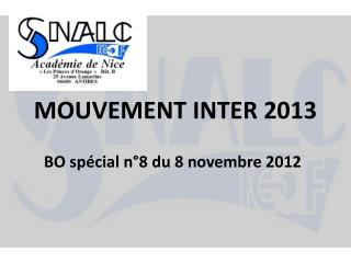 MOUVEMENT INTER 2013