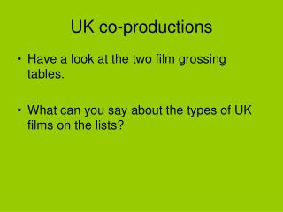 UK co-productions