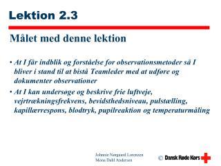 Lektion 2.3