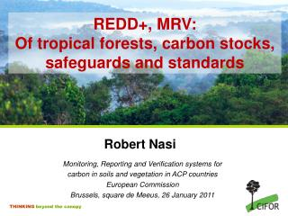 REDD+, MRV: Of tropical forests, carbon stocks, safeguards and standards