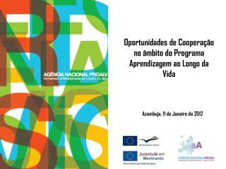 Oportunidades de Cooperação no âmbito do Programa Aprendizagem ao Longo da Vida