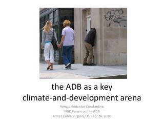 the ADB as a key climate-and-development arena