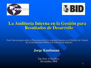 La Auditoría Interna en la Gestión para Resultados de Desarrollo