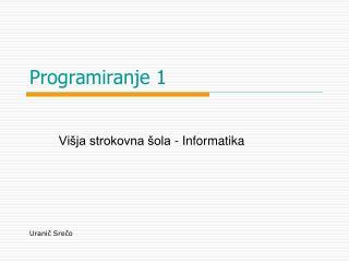 Programiranje 1