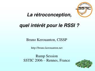 La r�troconception, quel int�r�t pour le RSSI ?