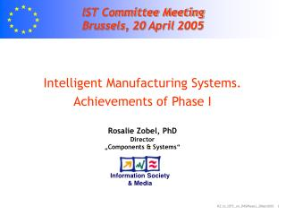 IST Committee Meeting Brussels , 20  April  2005