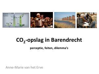 CO 2 -opslag in Barendrecht perceptie, feiten, dilemma�s
