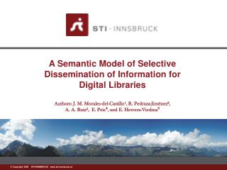 A Semantic Model of Selective Dissemination of Information for Digital Libraries