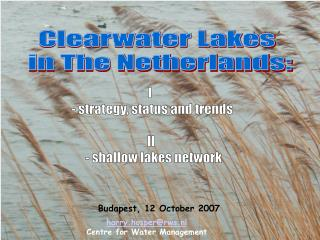 Clearwater Lakes  in The Netherlands: