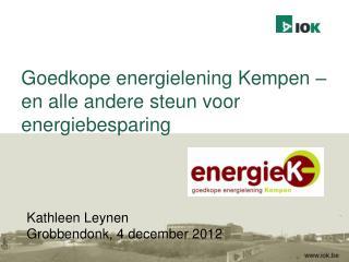 Goedkope energielening Kempen – en alle andere steun voor energiebesparing