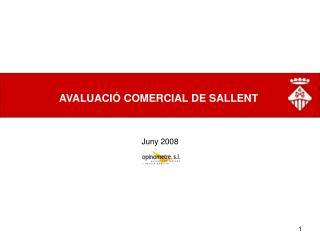 AVALUACI� COMERCIAL DE SALLENT