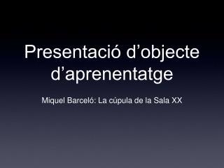 Presentació d'objecte d'aprenentatge