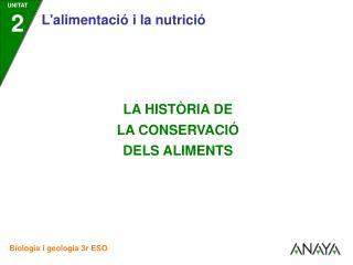 La història de la conservació dels aliments comença amb l'aparició dels primers éssers humans.