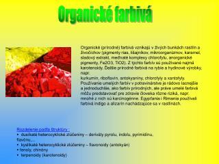 Organické farbivá