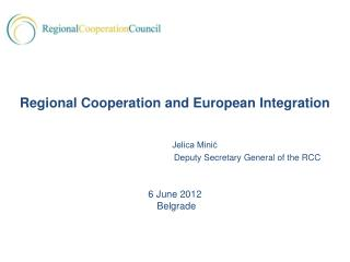 Jelica Mini? 			Deputy Secretary General of the RCC