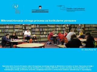 Mikronačrtovanje učnega procesa za kurikularne povezave