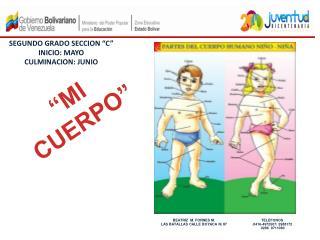 """SEGUNDO GRADO SECCION """"C"""" INICIO: MAYO CULMINACION: JUNIO"""