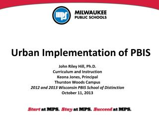Urban Implementation of PBIS